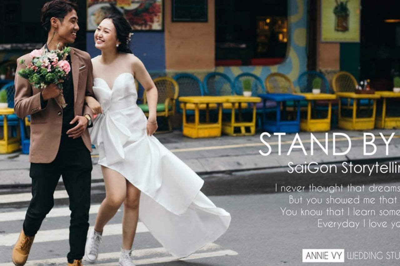 Chụp ảnh cưới ngoại cảnh Sài Gòn lãng mạn và mới lạ