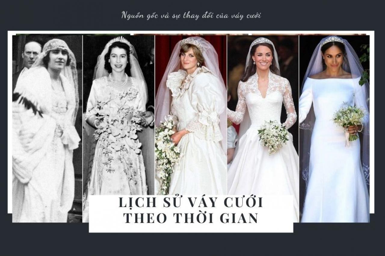 Có thể bạn chưa biết: Lịch sử của váy cưới theo thời gian