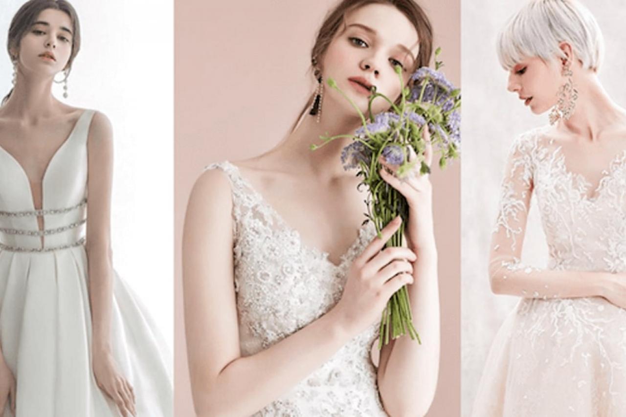 Những mẫu váy cưới cho cô dâu vai rộng lung linh trong ngày cưới