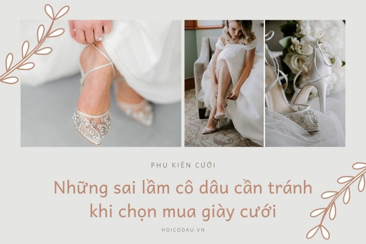 Những sai lầm các cô dâu cần tránh khi chọn giày cưới