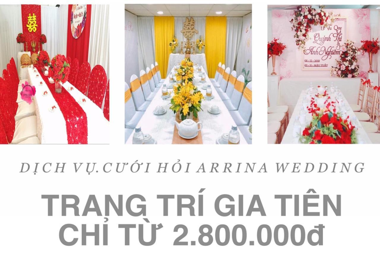 Dịch vụ cưới hỏi Arrina Wedding - Trang trí gia tiên trọn gói giá ưu đãi